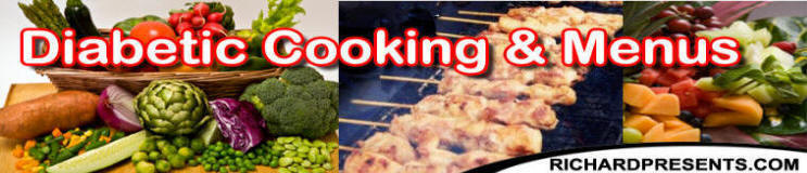 diabetic cooking , meal plans and menus
