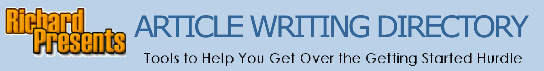Article Writing  Tools to help you get over the Getting Started Hurdle